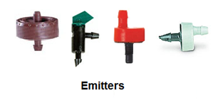 Four Different Drip Emitters